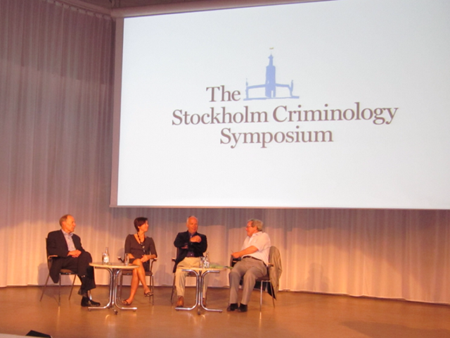 Dr abby fagan participating on a stockholm criminology symposium